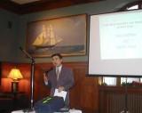12.13.2002   Speaking at RI World Affairs Council / Hope Club, Providence, RI
