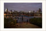 Saint-Paul et la passerelle du Milleniumvus du Tate Modern