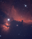 Horsehead and Flame Nebula - Bi-Color Ha/OIII