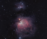 Orion Nebula and Running Man (HaRGB)
