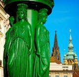 statue in green