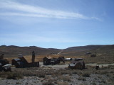 Entering Bodie, a mining ghost town, 14 desolate miles in from 395.