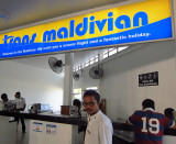 Trans Maldavian seaplane counter at Male airport