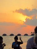 Sunset with fingers and Villas