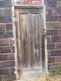 an old brown door