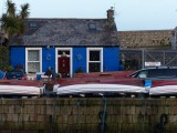The little blue house in the harbour