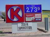 Circle K 273.9 gas