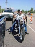 Harley Davidsonbiker on University