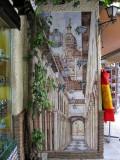 Granada. Mural en el mercado de la Alcaiceria