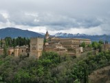 Granada. La Alhambra desde el Mirador de San Nicolas