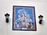 Granada.Azulejo a  La Virgen del Carmen