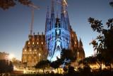Il.luminació Nadalenca a la Sagrada Família