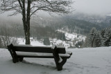 a bench to contemplate the panorama