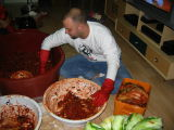 Making Kimchi at Yoon Teacher's House