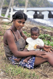 Young Angolar Mother with Baby
