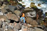 Fishing Boy on the Rocks...