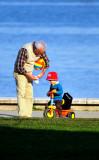 Grandfather Babysitting