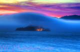 Alcatraz Foggy Twilight