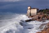 Castel Boccale. Mareggiata - Boccale Castle. Storm