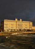 Hotel Palazzo in un giorno di tempesta -Palace Hotel in a stormy day