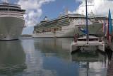 1.  Antigua harbor.  Our ship, Brilliance of the Seas.