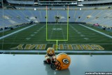 Green Bay Packers Huddle figure at Lambeau Field