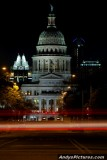 Texas State Capital at Night