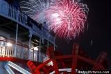 Fireworks over the Natchez Riverboat