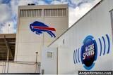 Raplh Wilson Stadium and CBS Sports TV truck