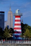 Empire State Building, Chrysler Builidng an a lighthouse