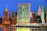 United Nations at Night