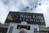 Flyover Sun Life Stadium in Miami