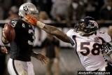 Denver Broncos LB Von Miller almost gets to Carson Palmer
