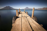 Lake Atitlan and the volcanoes