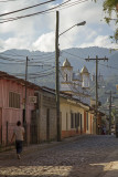Walking towards the Church in central Copán
