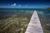 A pier with a view, Caye Caulker