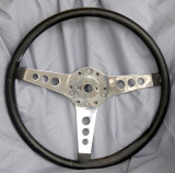 Les Leston NOS Steering Wheel with Vinyl rim