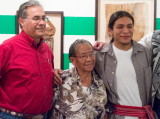 Dr. Don Pepion with Ben Shendo and Ben's grandmother