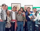 Family and friends of graduating senior Ben Shendo