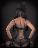 Vue arrière du corset
