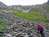 Slippery climb