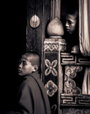 Monks at the Paro Dzong