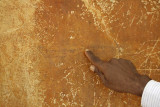 Sigiriya, mirror wall with micro writing