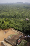 Sigiriya, view from the steps to the fourth terrace