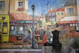 Sucre, mural of Le Taverne restaurant