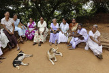 Sigiriya, pilgrims on the third terrace