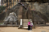 Sigirya, the steeps to the fourth terrace