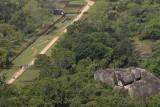 Sigirya, view to the royal gardens