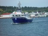 THIS WAS OUR WHALE WATCHING BOAT COMING OUT TO GET US AT THE WHARF
