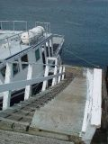 BY THE TIME WE HAD RETURNED TO THE DOCK THE TIDE HAD DROPPED OVER 28 FT  LOOK AT THE RAMP IT WAS FLAT WHEN WE LEFT
